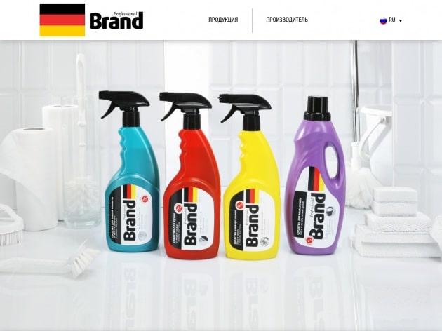 Дизайн промо сайта Professional Brand